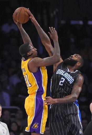 Balanced Lakers beat Orlando 101-84 without Kobe