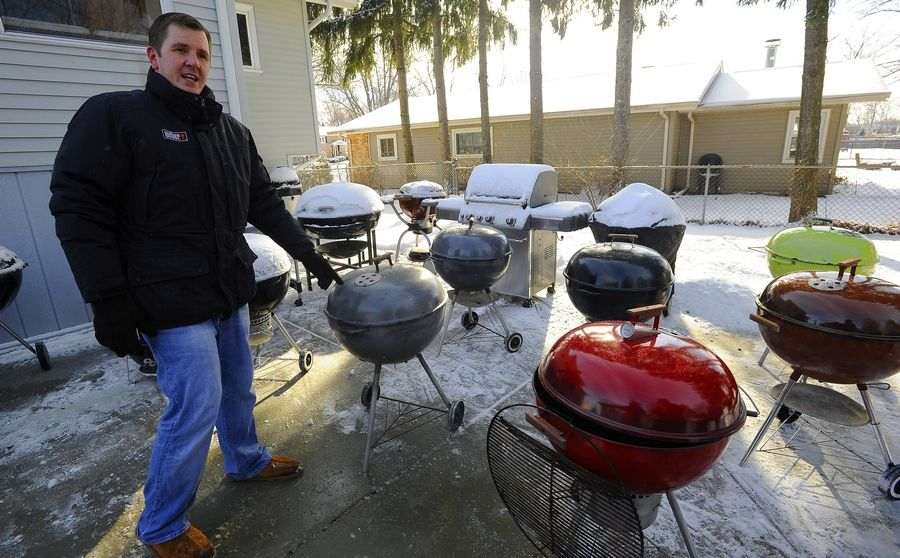 Picking his favorite grill is as impossible as choosing his favorite daughter, says Kevin Kolman. As Grill Master for Weber, Kolman owns about 40 grills and cooks outside even on the coldest days.