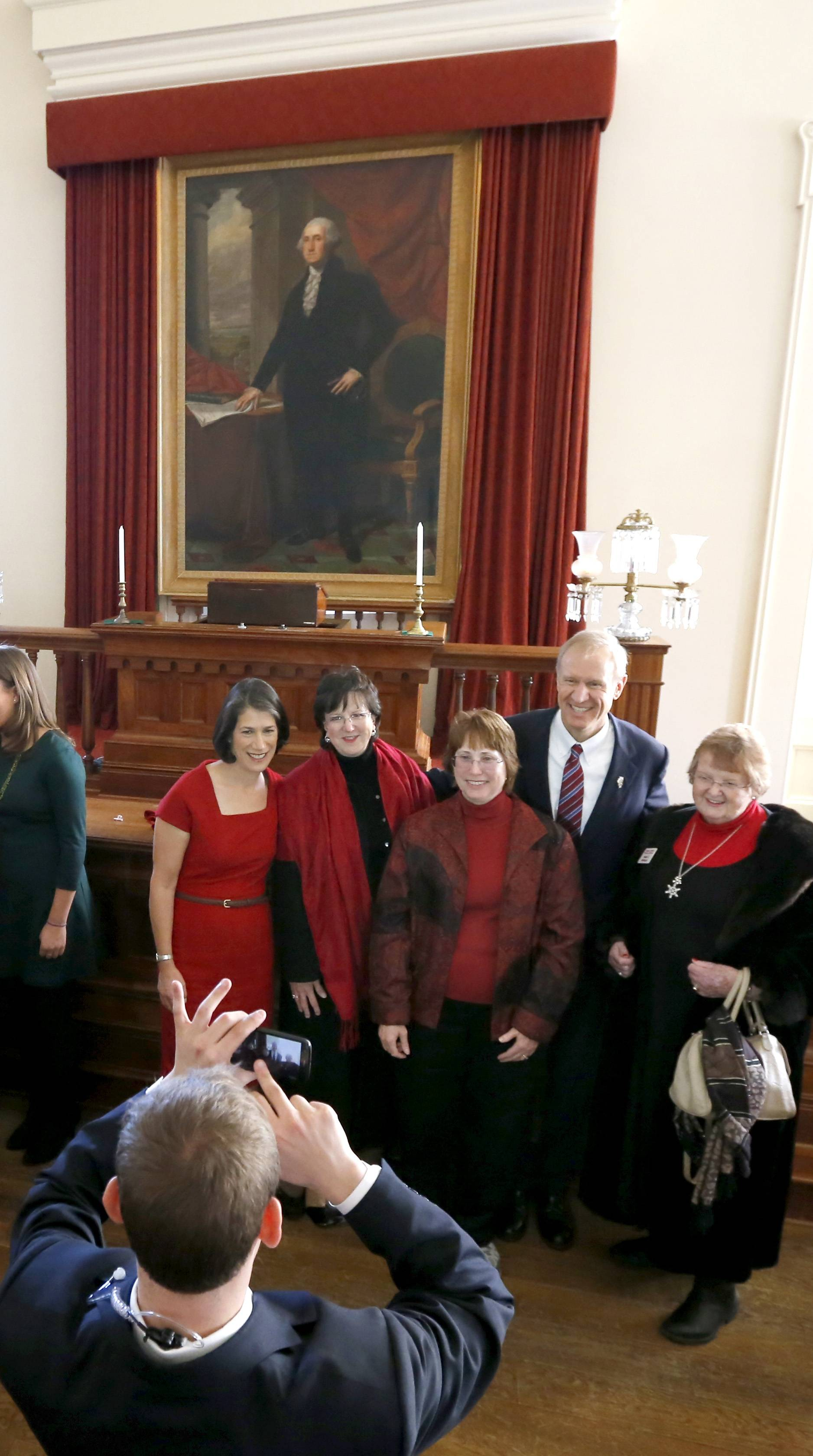 Glimpses of Rauner's inauguration day