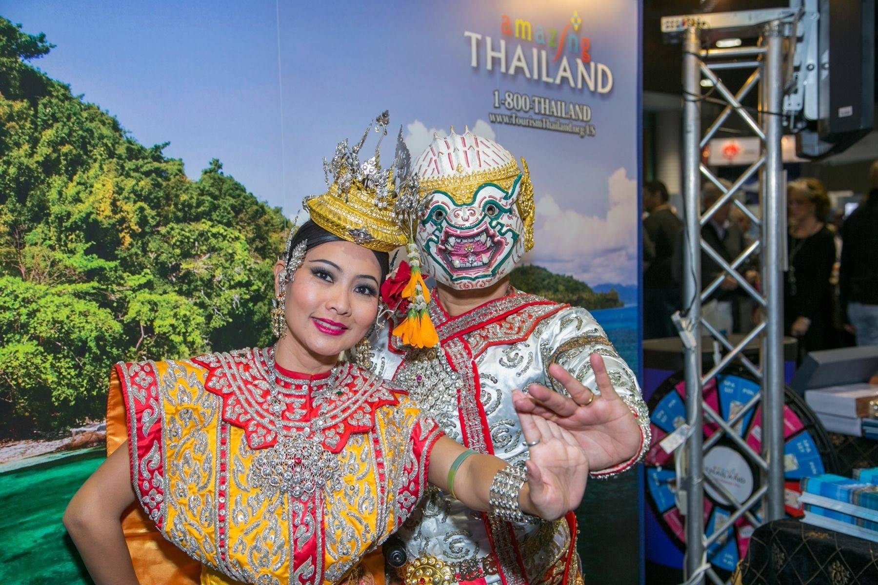 Representatives from Thailand at the show.