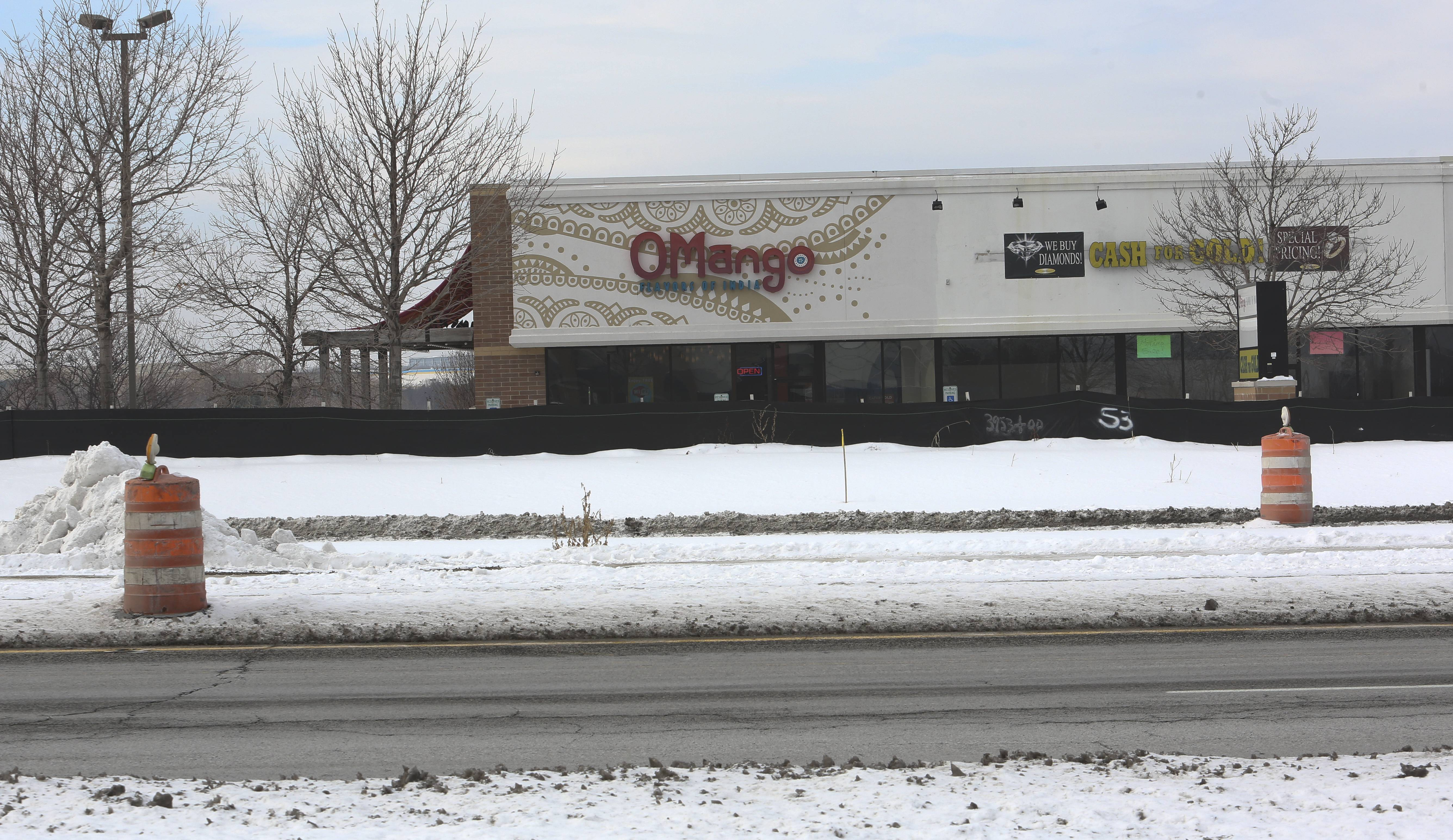 OMango Flavors of India at 1056 Route 59, Suite 100, is located inside the three-mile Route 59 construction zone on the Naperville/Aurora border between Ferry Road and Aurora Avenue/New York Street.