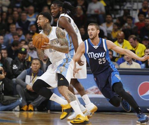 Lawson, Faried lead Nuggets past Mavericks, 114-107