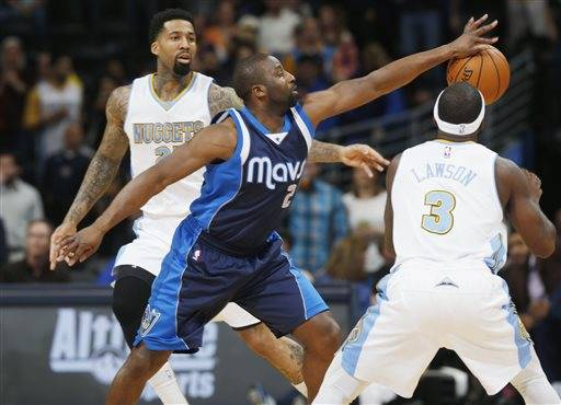 Lawson, Faried lead Nuggets past Mavericks, 114-107 ...