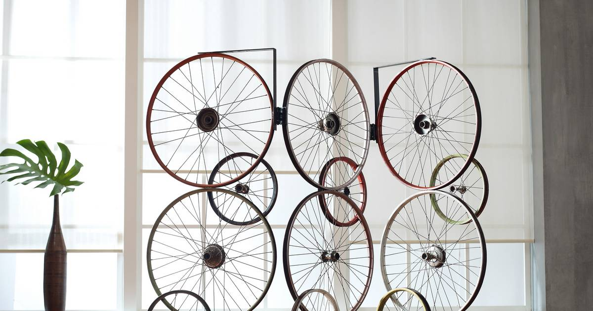 Right At Home Decorating With Bicycle Parts