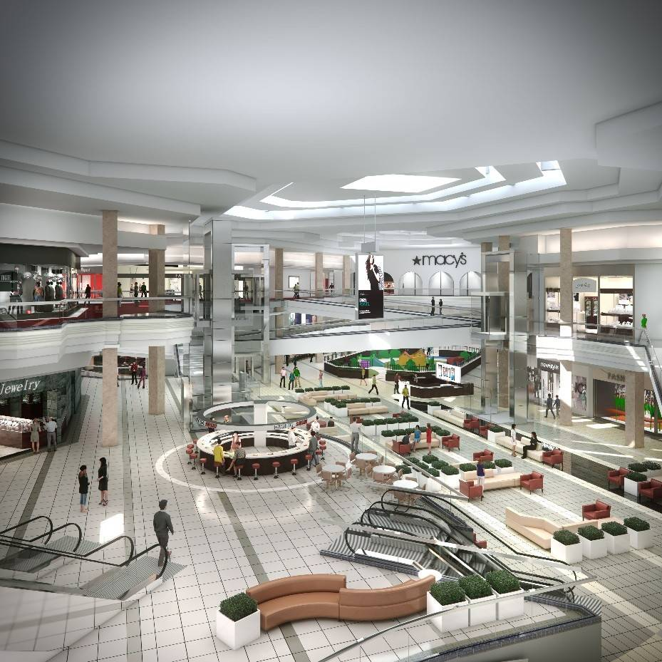 Woodfield Mall reveals new look -- no more brick