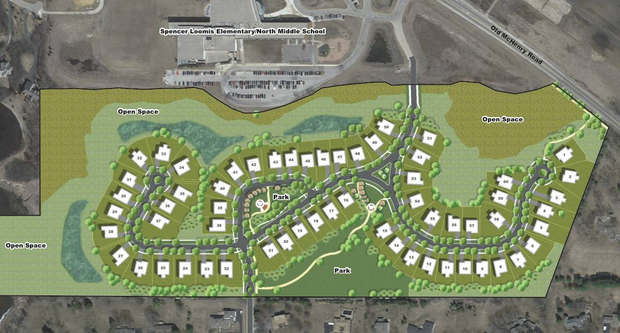 Stonebridge Community is planned for 59 acres along Old McHenry Road, just south of Spencer Loomis Elementary School and North Middle School.