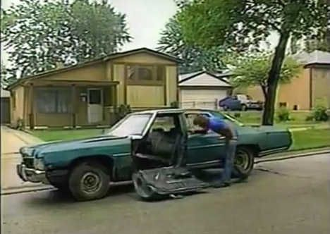 This is a screen grab from the Chicago-region classic commercial for Victory Auto Wreckers of Bensenville.