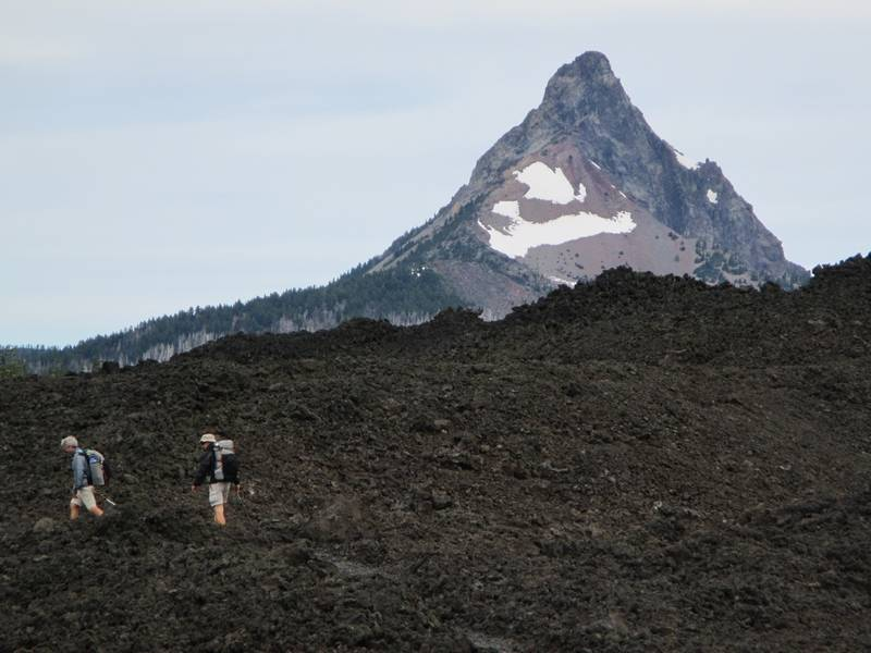 Hikers Make Their Way Along The Pacific Crest Trail Near Bend Ore With