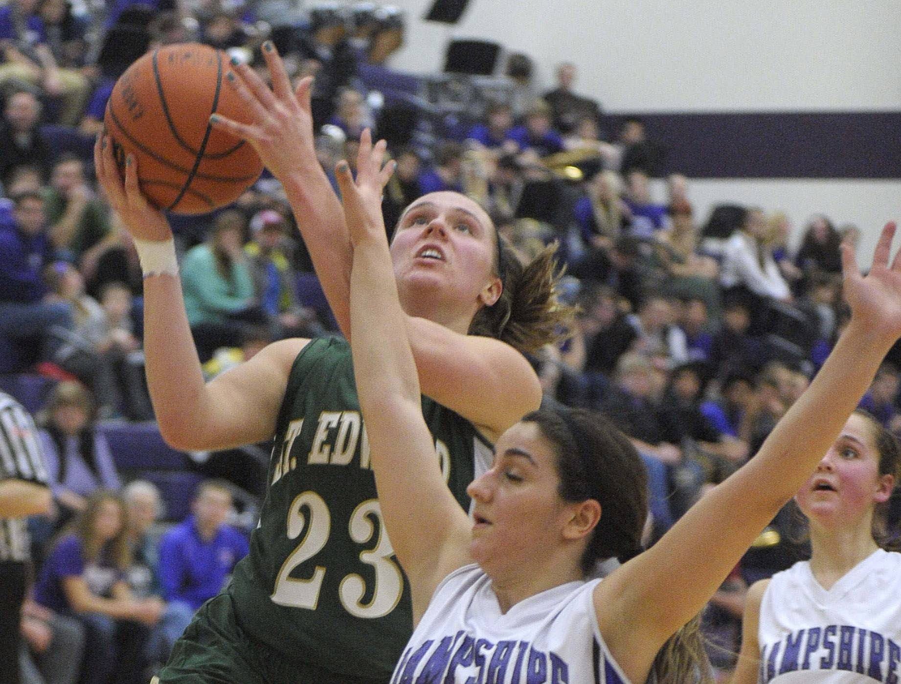 Images from the Hampshire vs. St. Edward girls basketball game on Saturday, Jan. 24 in Hampshire.