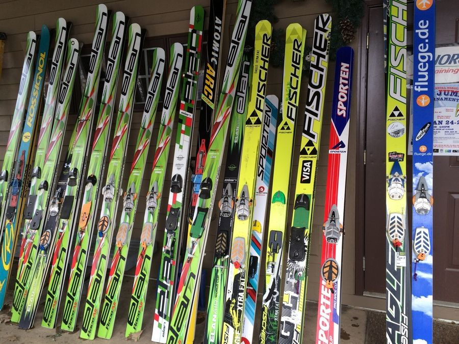 The Viking Ski Shop at Norge Ski Club in Fox River Grove displayed some of its most colorful skis during its 110th annual Winter Ski Jump Tournament on Saturday.