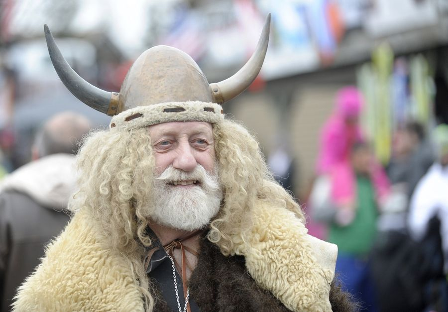 Norge Ski Club member Marty Knapp of Fox River Grove says he has been dressing up as a Viking for about 37 years.
