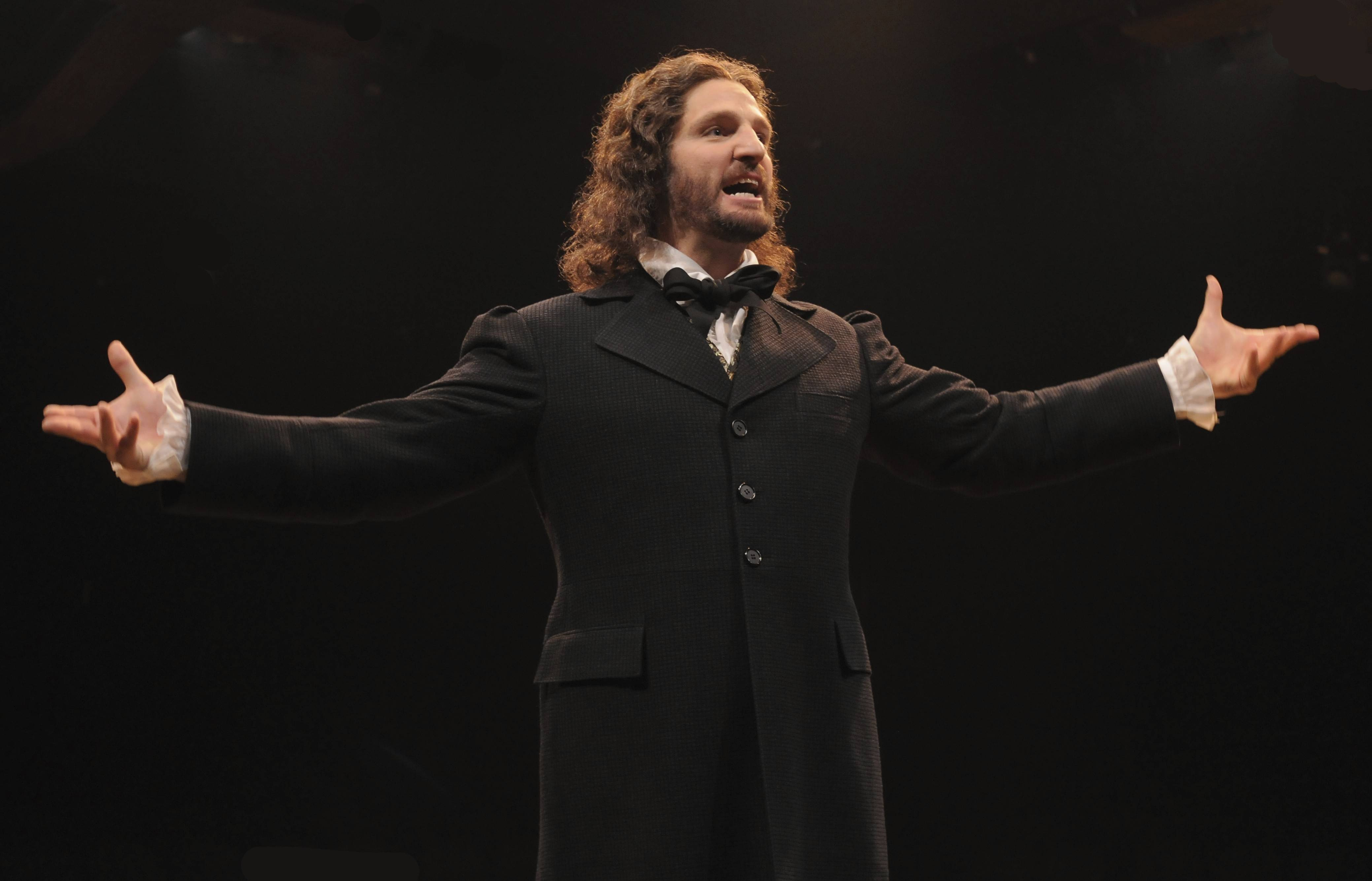 "John Cudia starred as Jean Valjean in the Marriott Theatre in Lincolnshire's multi-Jeff Award-winning production of ""Les Miserables."""