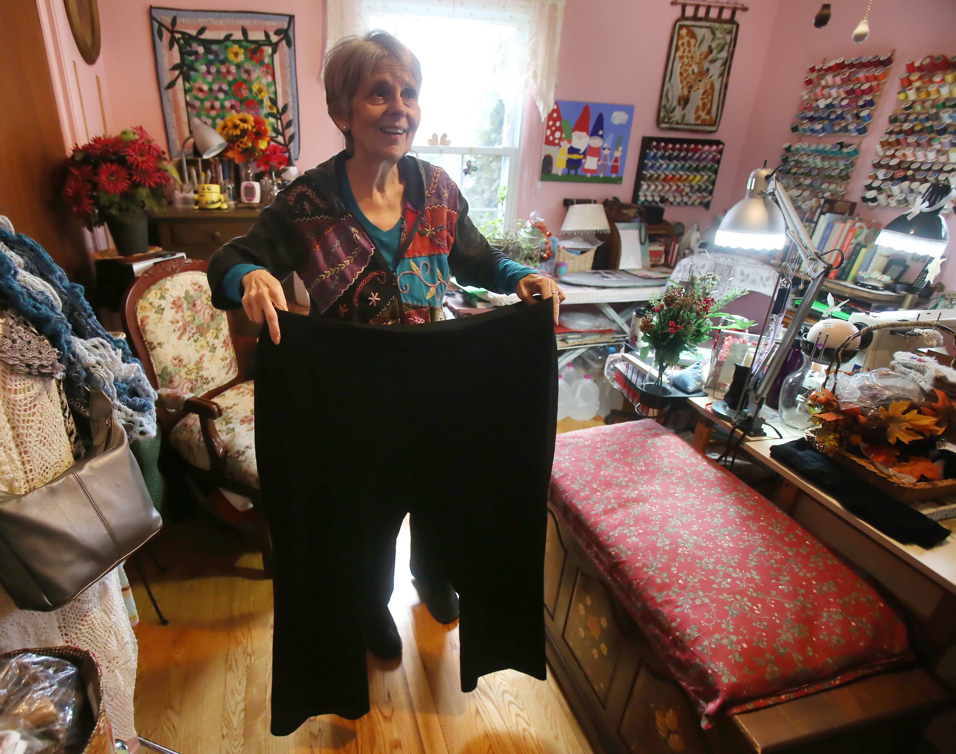 This old pair of size 30 pants was a wardrobe staple for Jan Wilke before the Grayslake woman found a eating program that worked.
