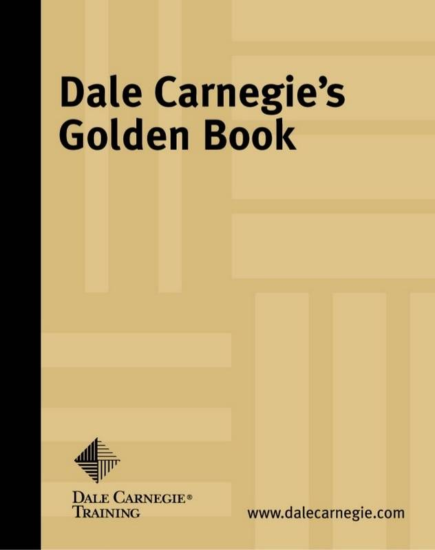 dale carnegie golden rules pdf
