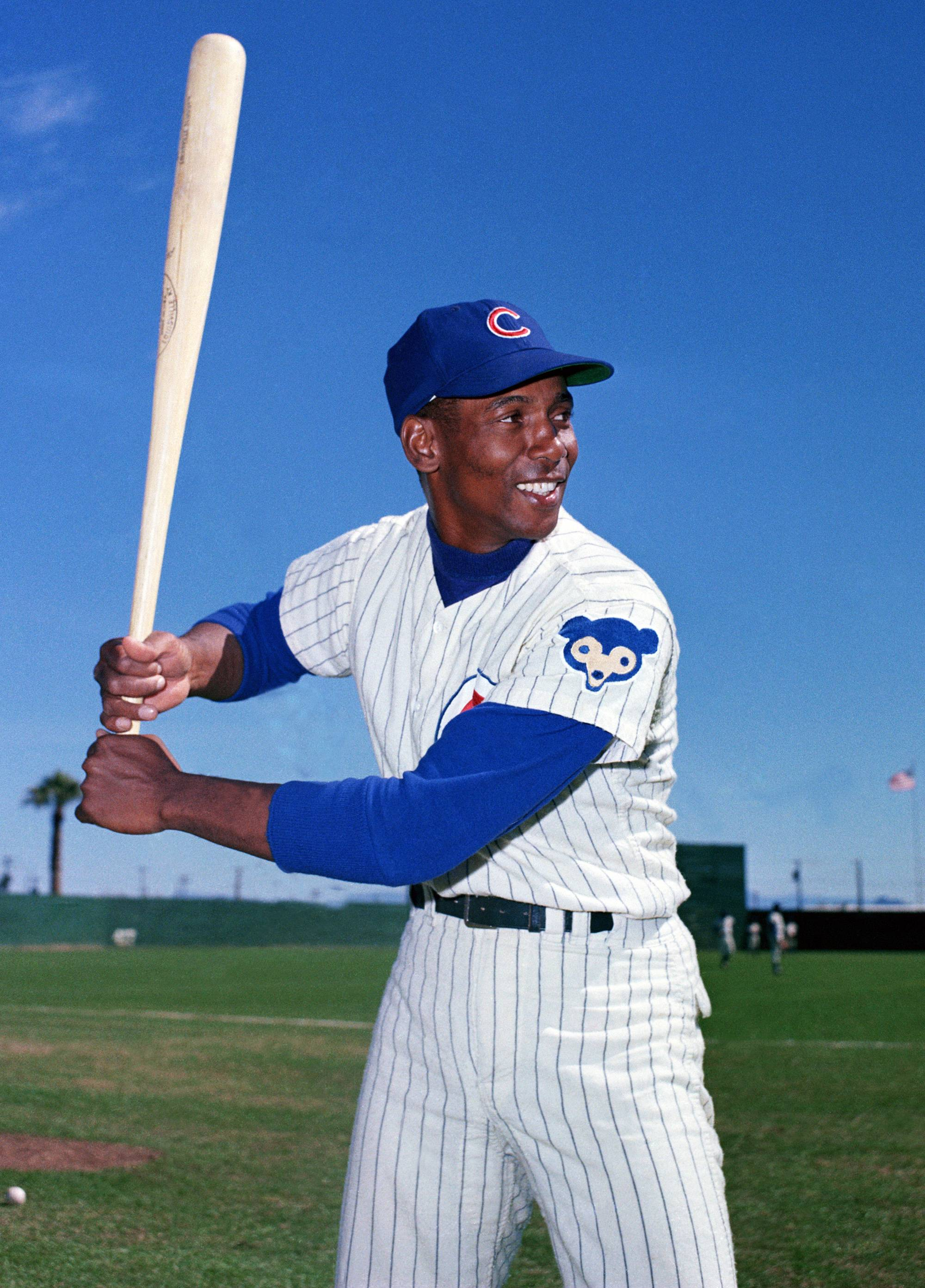 Ernie Banks, seen here in 1968. more than measured up as a Hall of Famer even by today's metrics.