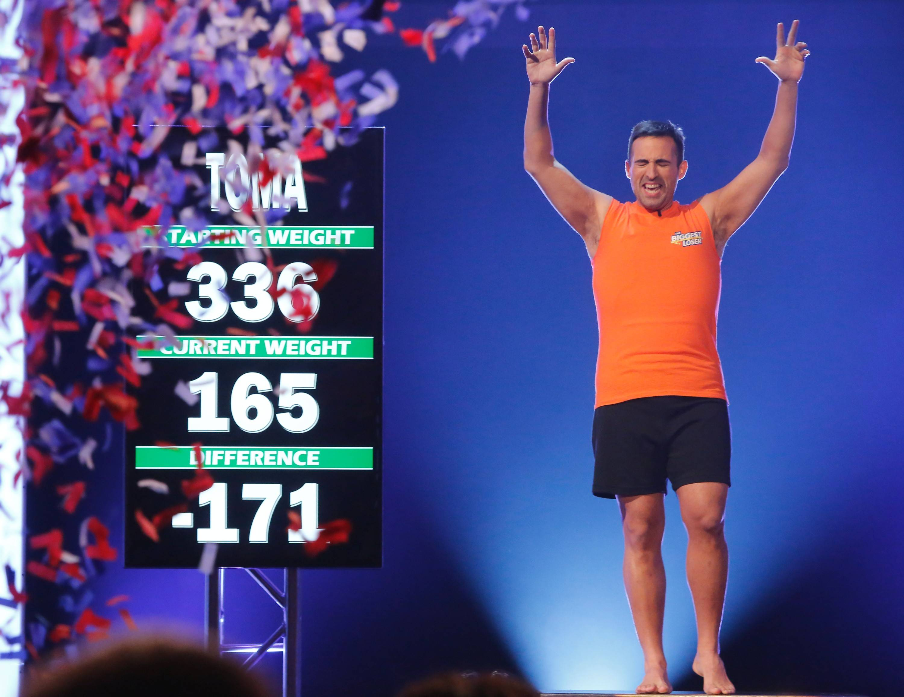 "Toma Dobrosavljevic of Bloomingdale shed 171 pounds to win NBC's ""The Biggest Loser."""