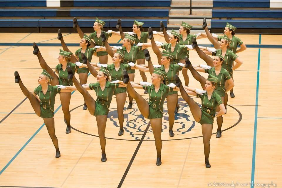 "A high kick section is one of the highlights of the routine the Lakes Community High School dance team performs to ""Boogie Woogie Bugle Boy."""