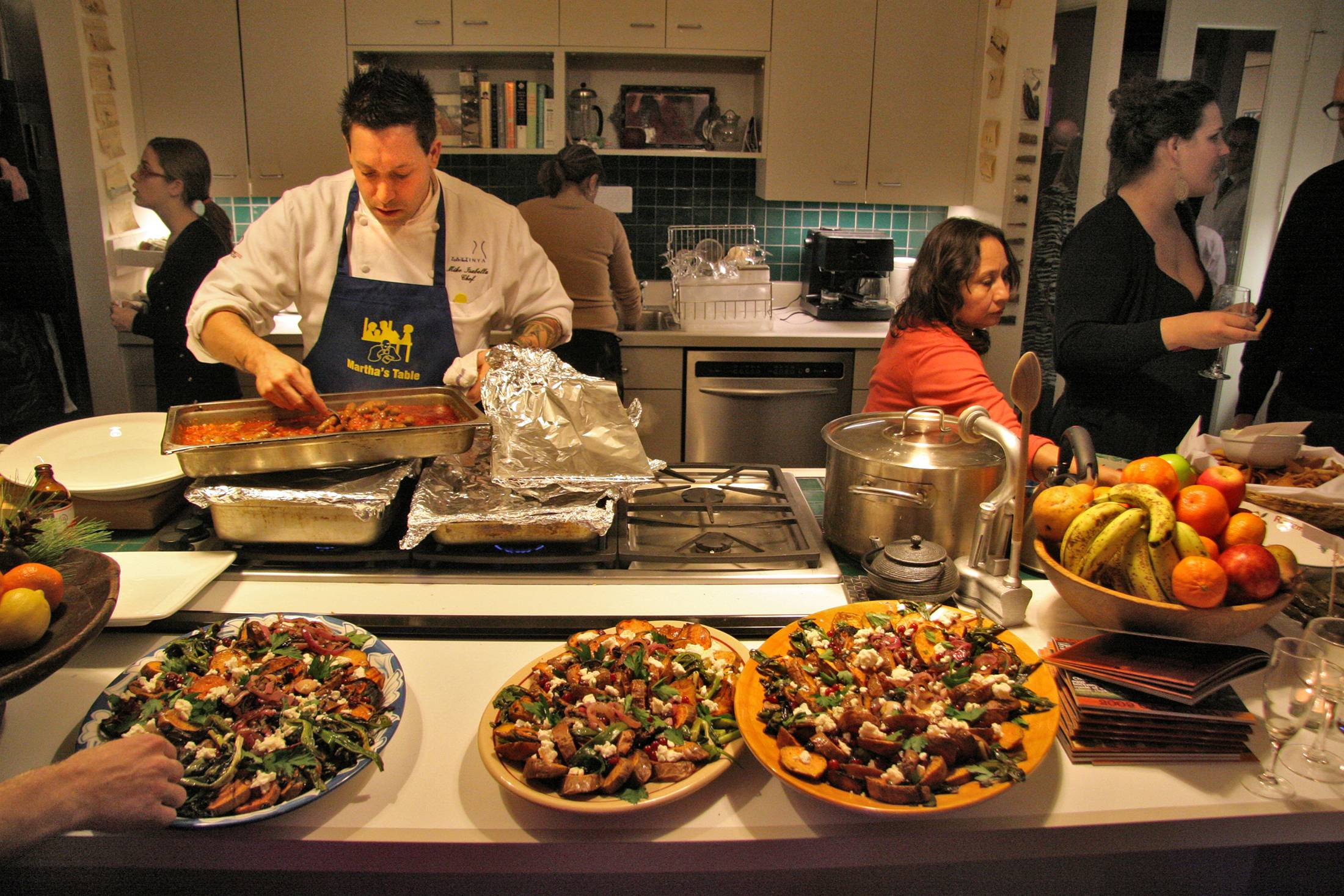 Chef Mike Isabella is a regular participant in Sips & Suppers, in which chefs cook in private Washington area homes as part of a charity fundraiser.