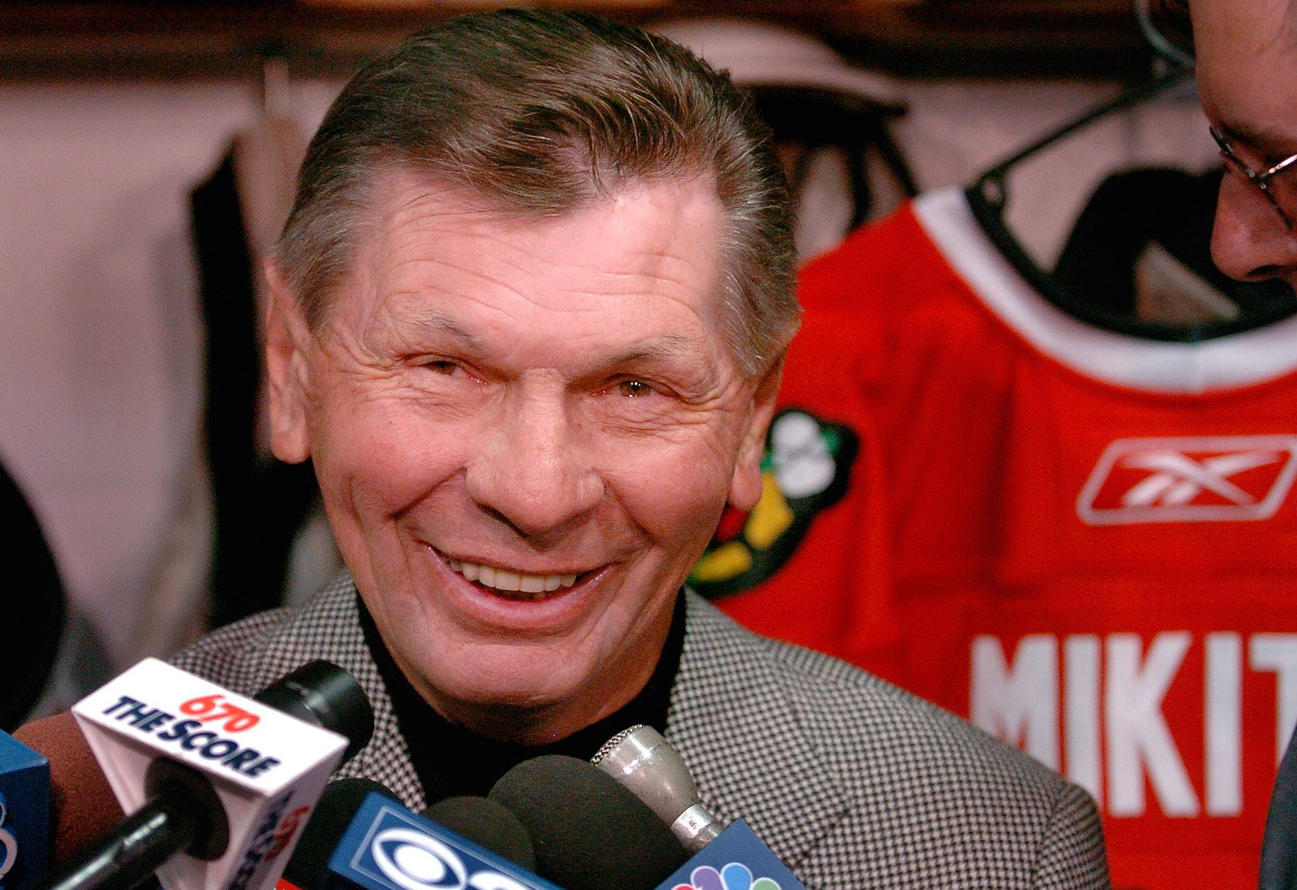 Stan Mikita was excited to return to the Blackhawks organization in 2008 as a team ambassador with Bobby Hull.