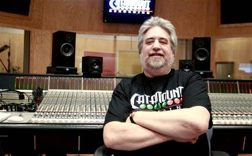 FOR RELEASE SATURDAY, JANUARY 31, 2015, AT 12:01 A.M. CST. - In this photo taken on Friday, Jan. 23, 2015, Tom Tatman poses at Catamount Recording Studios in Cedar Falls, Iowa. Catamount has been chosen for the Iowa Rock and Roll Music Association's Hall of Fame.