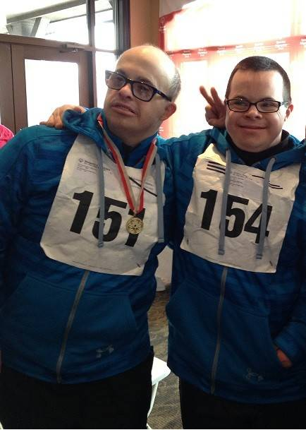 Fox Valley Special Recreation Association athletes Ben Brizzolara, 37, of St. Charles, left, and David Kelly, 29, of Geneva are competing in snowshoeing this week at the Special Olympics Illinois Winter Games.