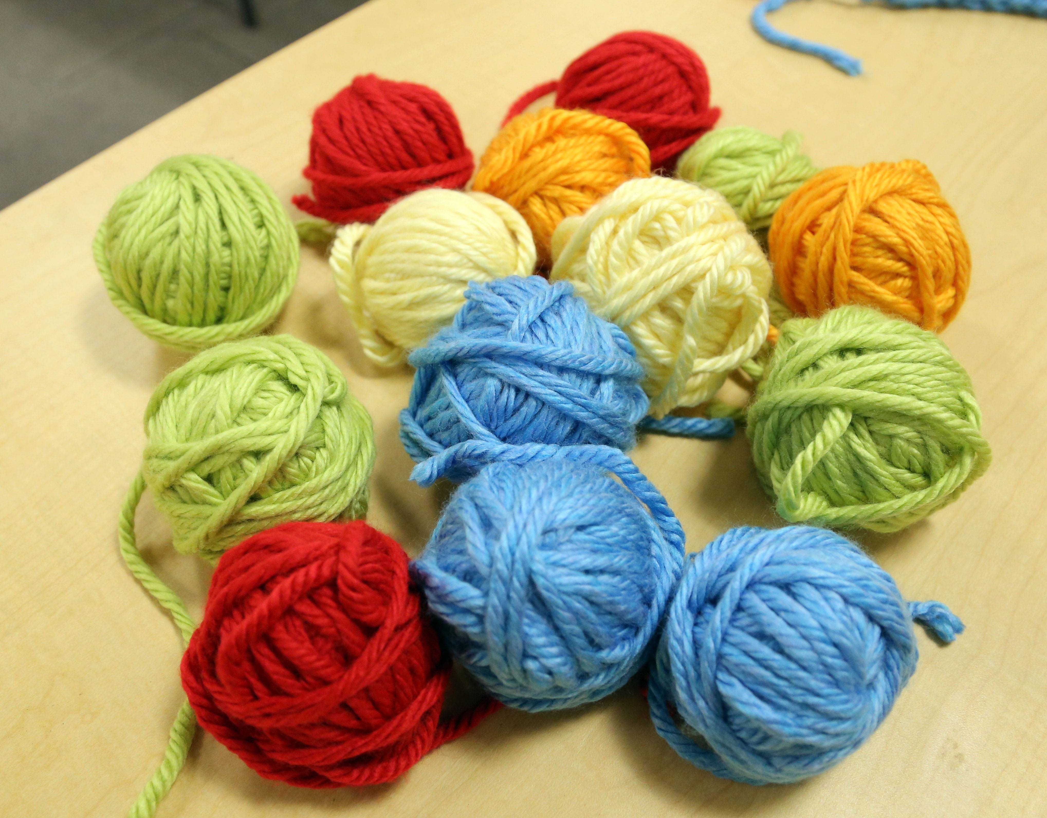 Girls in grades 3-5 participated in a finger-knitting program at Cook Park Library in Libertyville.
