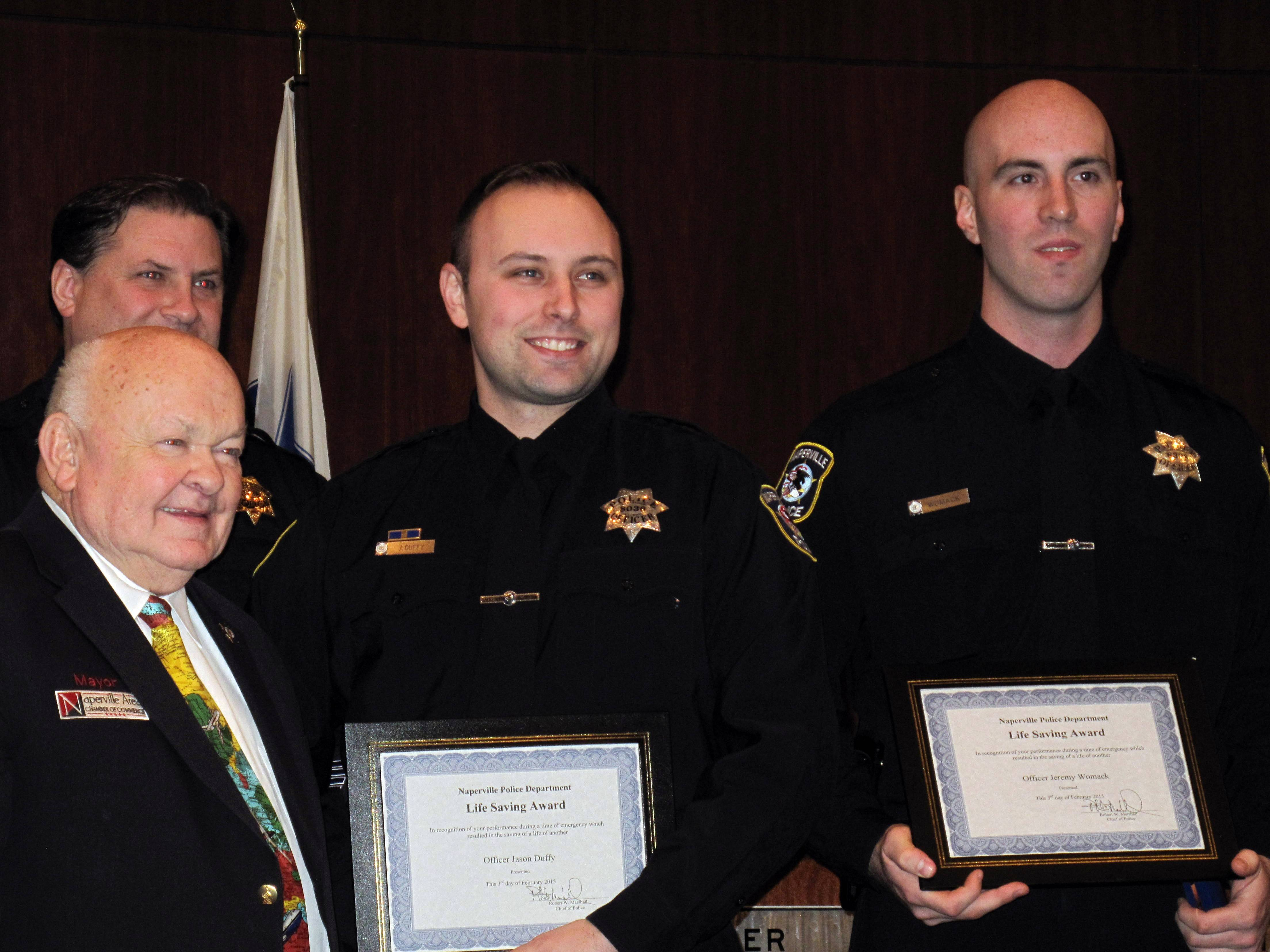 Lifesaving award for Naperville cops who revived overdose victim
