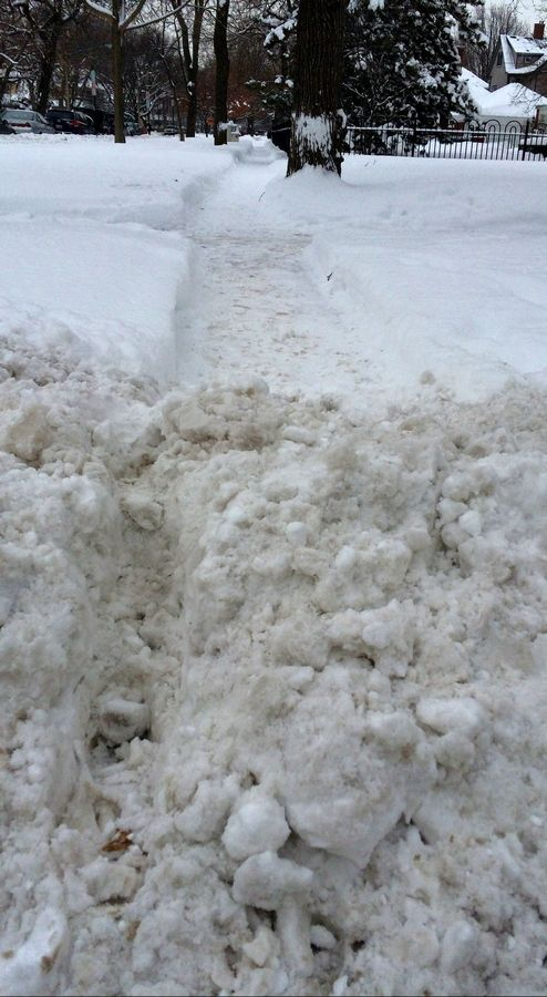 For most suburbanites, a shoveled sidewalk that ends with a mound of snow means a perilous step into the slush. For people who use wheelchairs, that obstacle can mean the end of a trip.