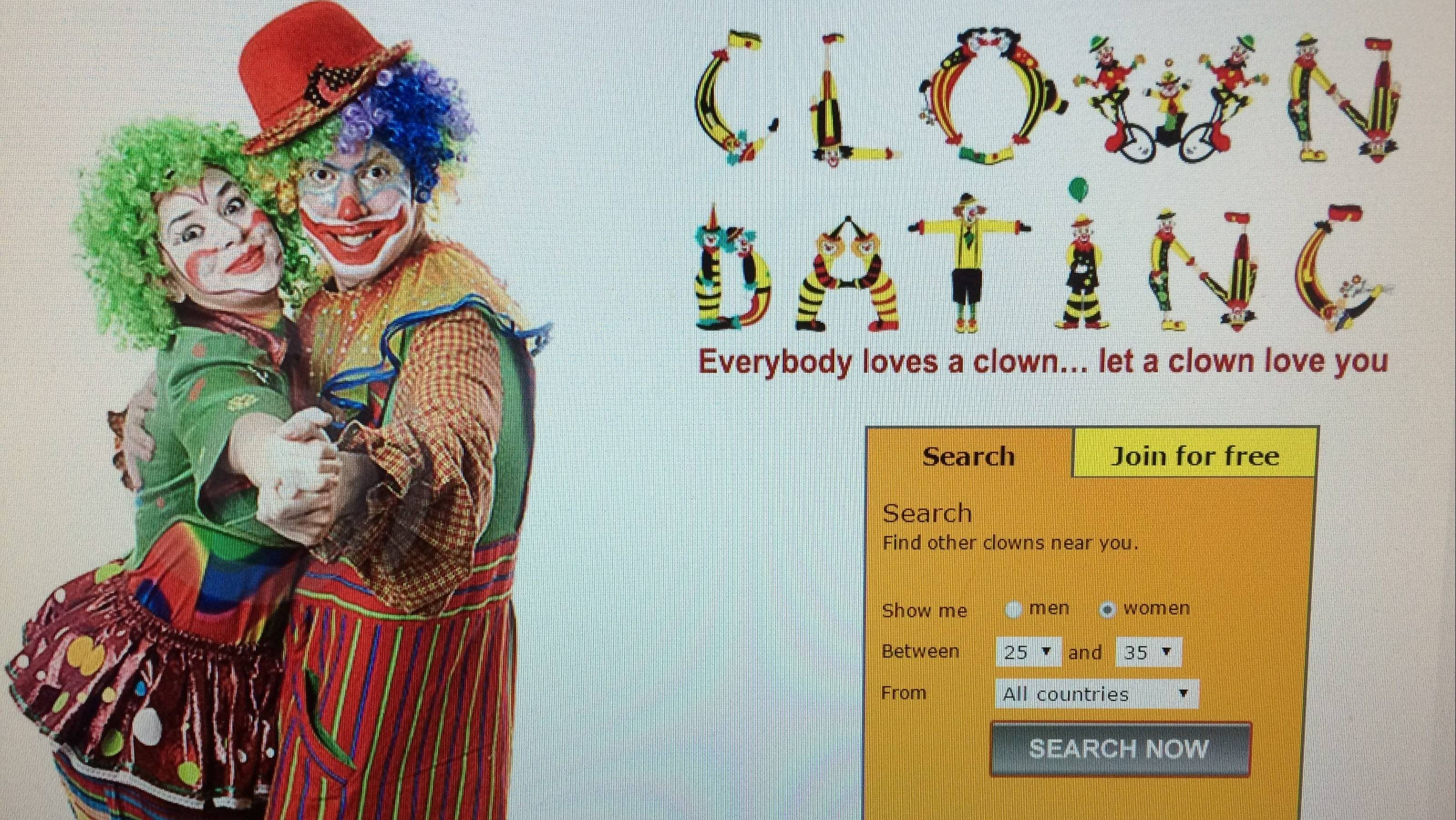 Dating site for clowns
