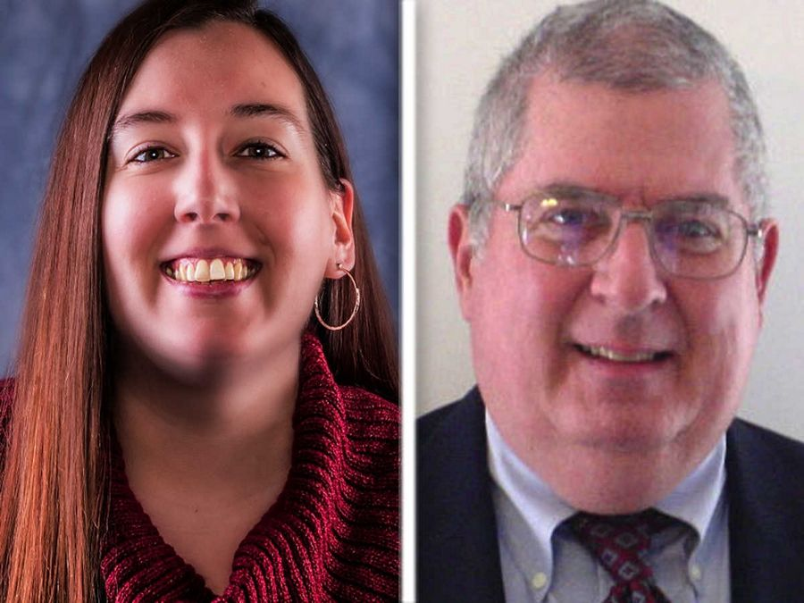 Melissa Birch, left, and Wayne Woodward , right, are candidates for  West Chicago Ward 4 in the 2015 election.