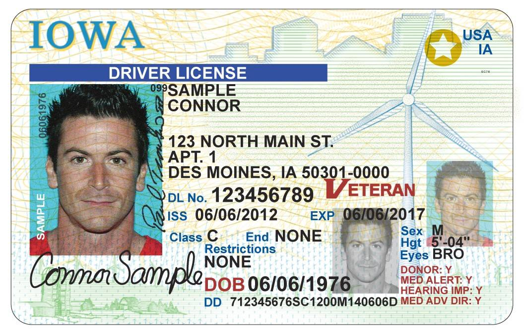 The star in the upper right corner of some Iowa driver's licenses indicates compliance with federal security mandates. Illinois has been granted two extensions to meet those requirements.