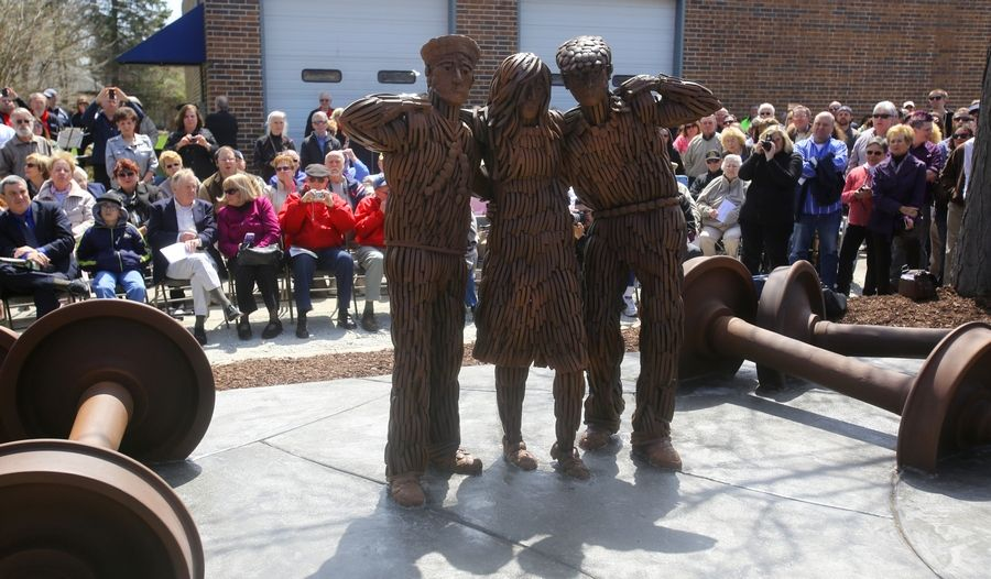 "A Naperville nonprofit group, Century Walk Corp., is seeking a greater financial commitment from a city cultural amenities fund to help maintain its 47 pieces of public art, including the ""Tragedy to Triumph"" sculpture dedicated in April 2014."