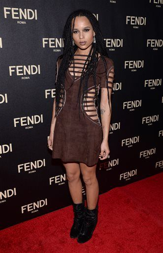 Zoe Kravitz attends Fendi's New York Flagship Boutique opening celebration on Friday, Feb. 13, 2015, in New York. (Photo by Evan Agostini/Invision/AP)