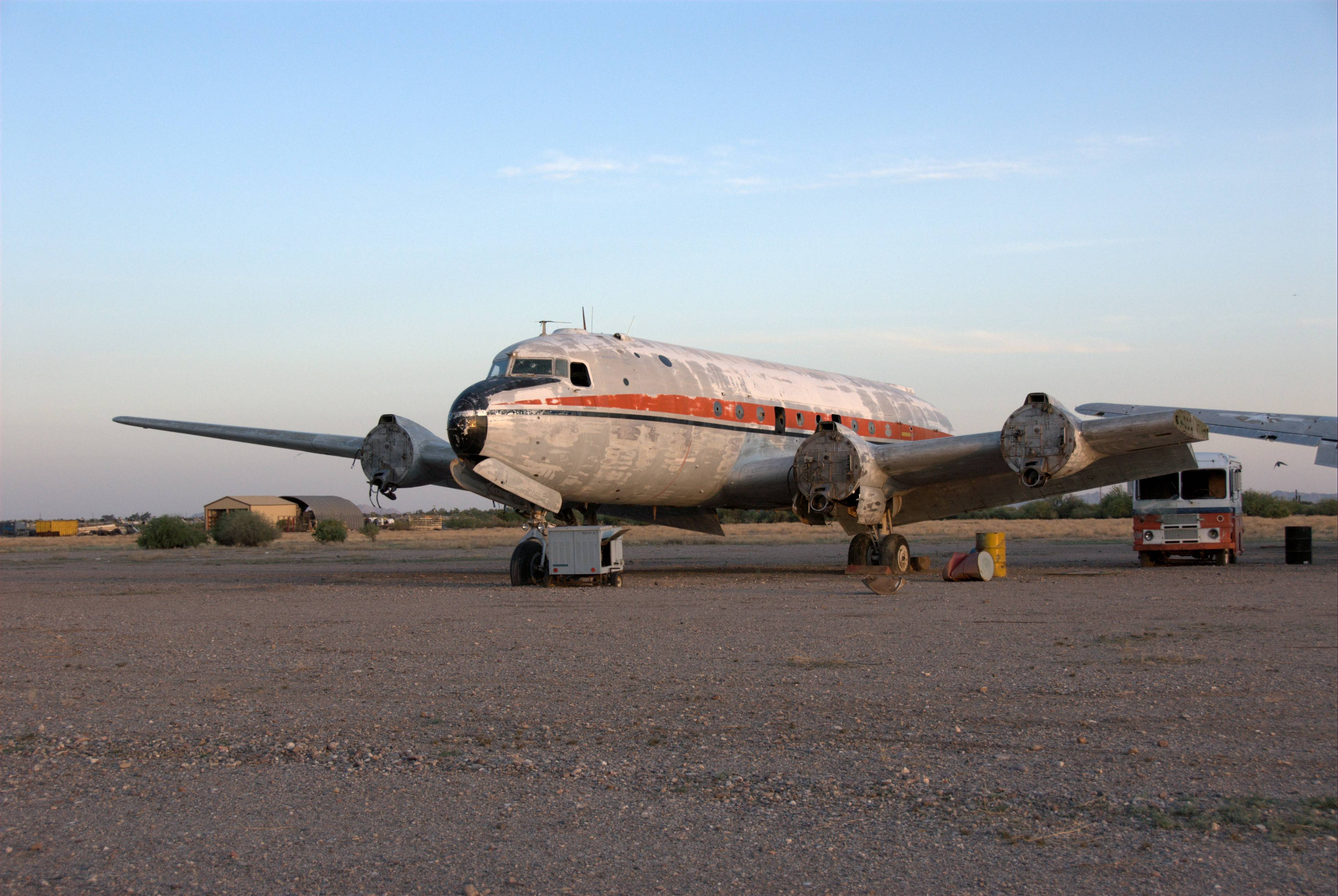 What remains of the Maine Flyer is at the Gila River Memorial Airport in Chandler, Arizona.