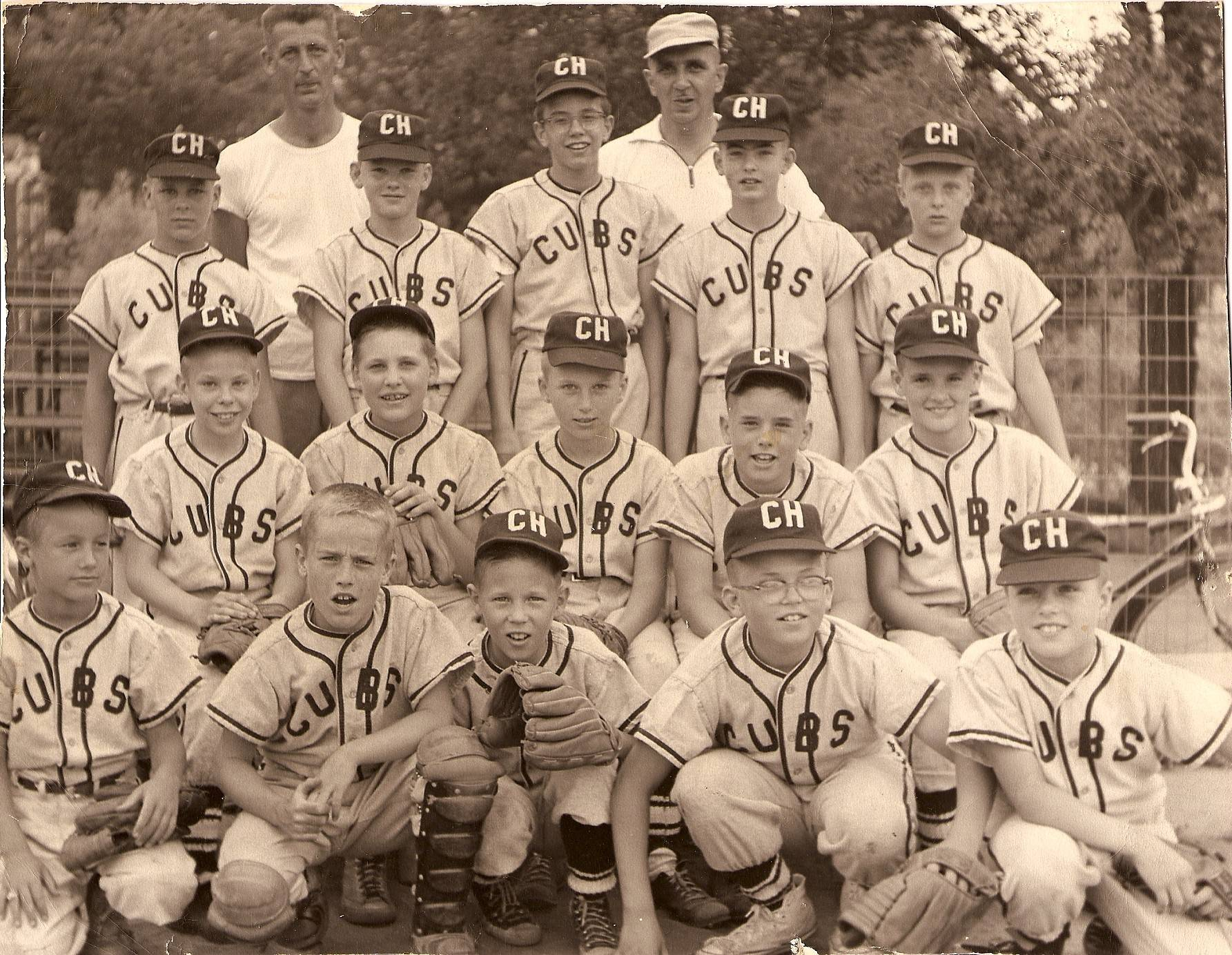 "Even as a kid, Roger Bain (second from right in second row) had an affinity for the Chicago Cubs. The Arlington Height musician got to hang with Ernie Banks in 1979 after he wrote a tribute song called ""Thanks Mister Banks."""