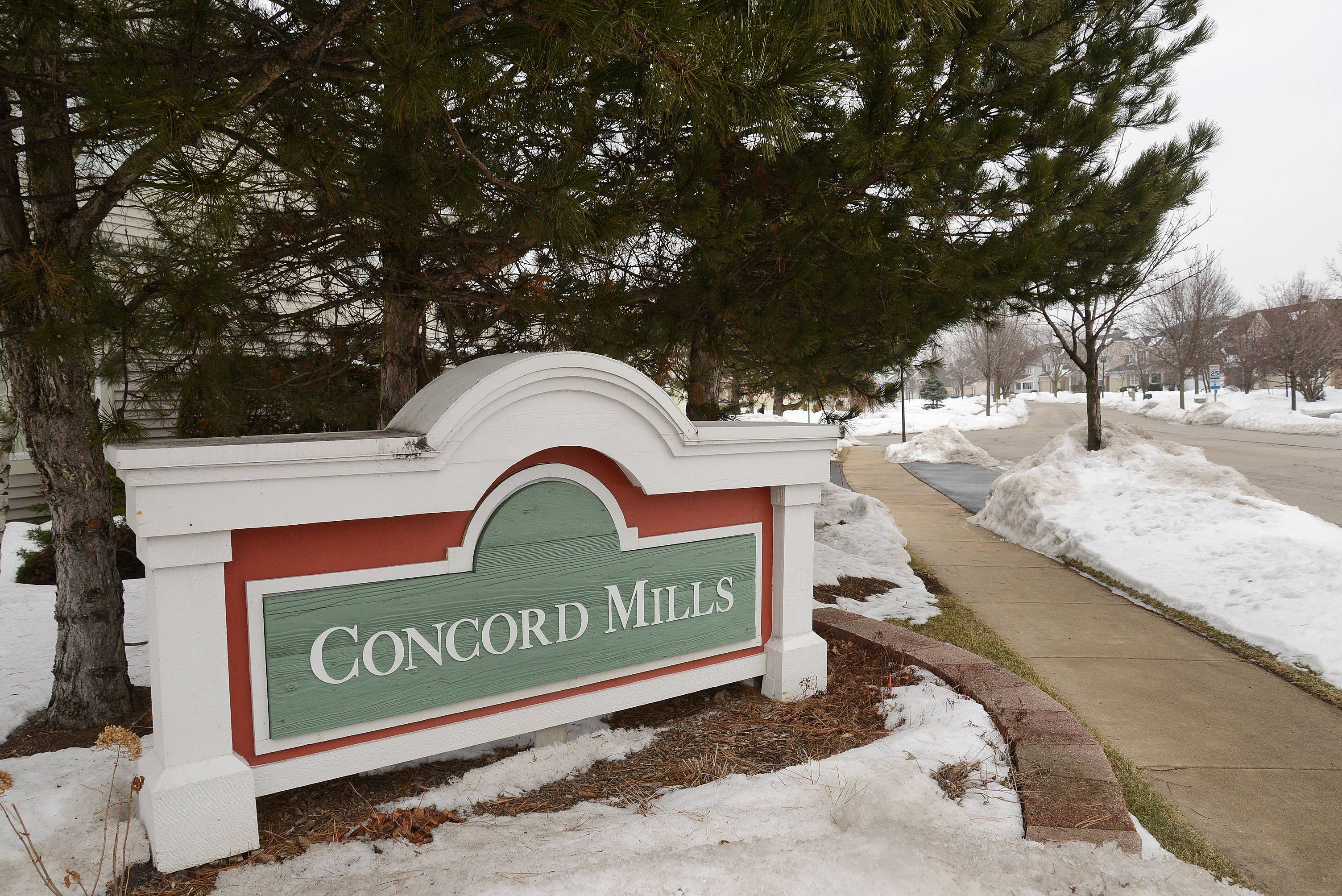 The Concord Mills neighborhood in Palatine has both single-family homes as well as townhouses.