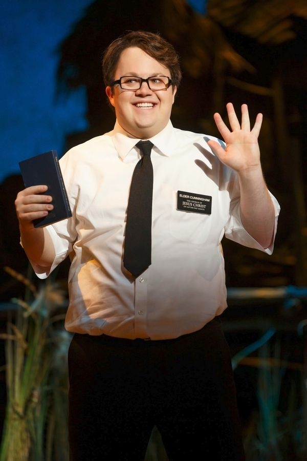 "Cody Jamison Strand plays the not-so bright Elder Cunningham in the second national tour of the hit Broadway musical ""The Book of Mormon,"" which returns to the Bank of America Theatre in Chicago from Wednesday, Feb. 25, through Sunday, May 17. Actor Rob Colletti from Glen Ellyn and Wheaton is Strand's standby."