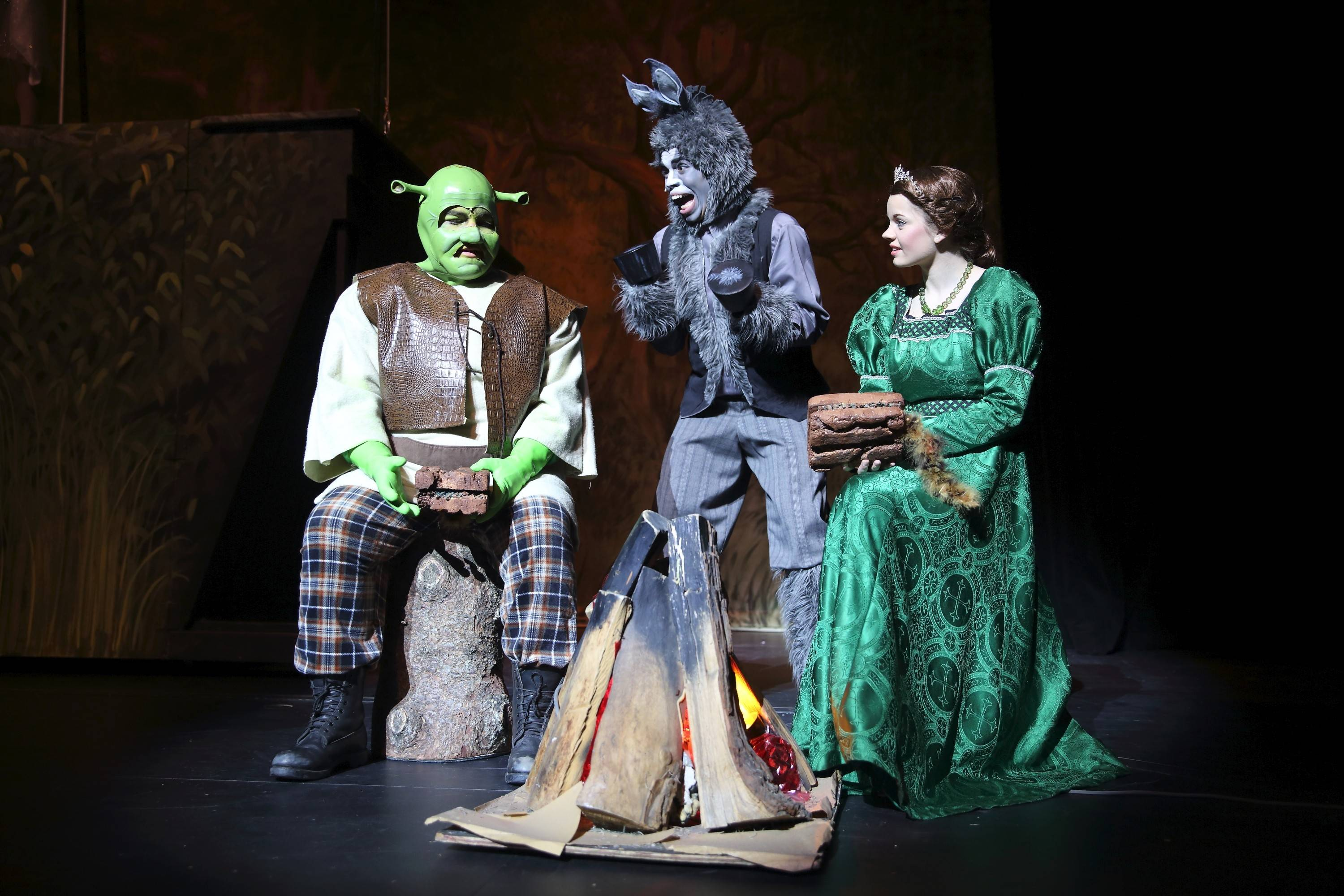 "Featuring Clay Nott as Shrek, Marcus Canada as Donkey and Lindsay Spencer as Fiona, Spotlight Youth Theater-DuPage's production of ""Shrek: The Musical"" will feel familiar to fans of the movie but offer some surprises, too."