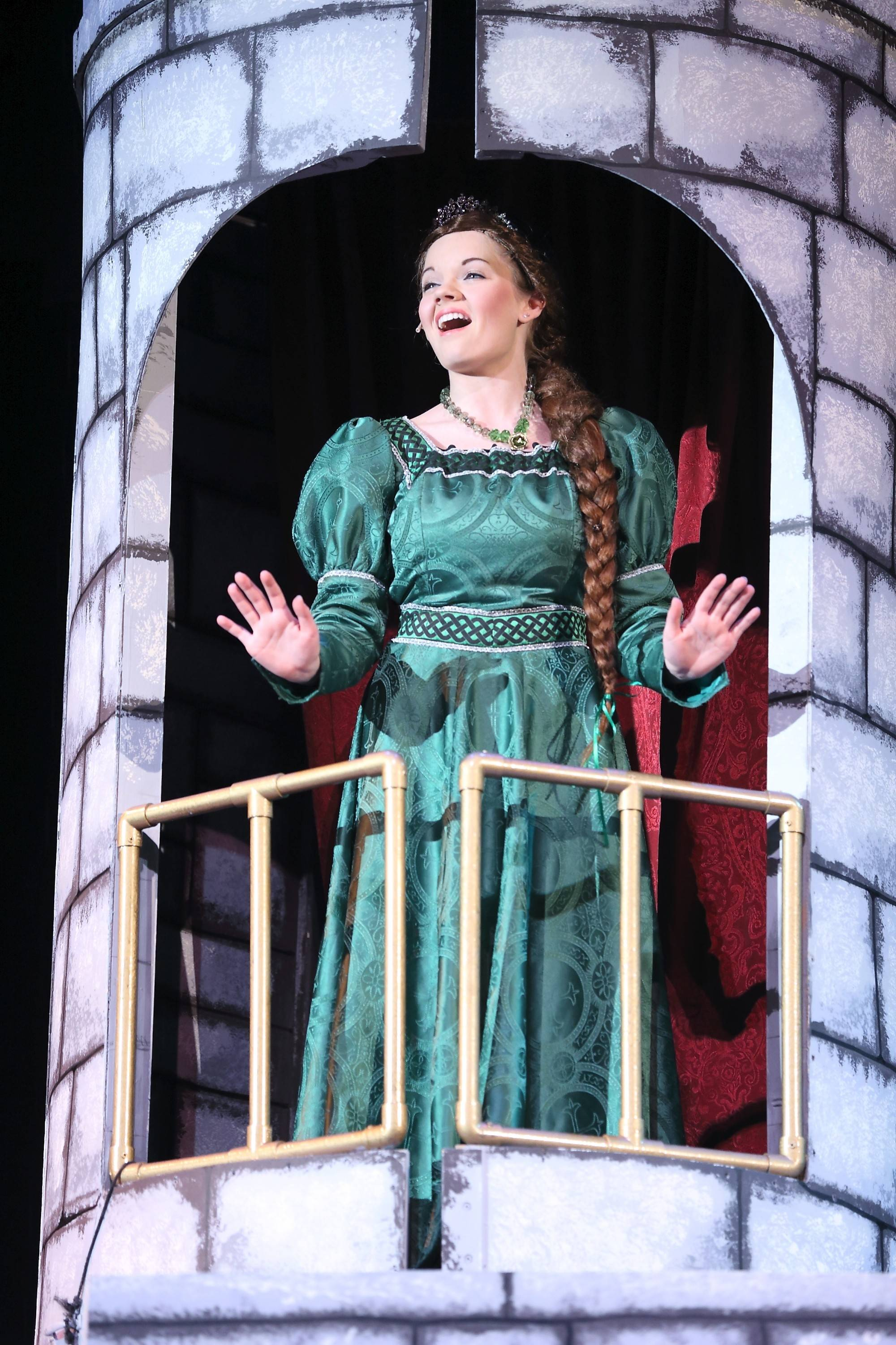 "Lindsay Spencer of Yorkville stars as Fiona in Spotlight Youth Theater DuPage's production of ""Shrek: The Musical."""