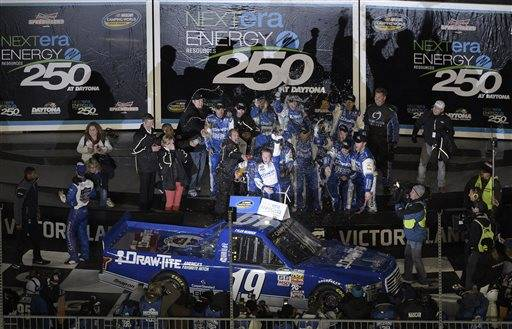 reddick wins truck series season opener at daytona. Black Bedroom Furniture Sets. Home Design Ideas