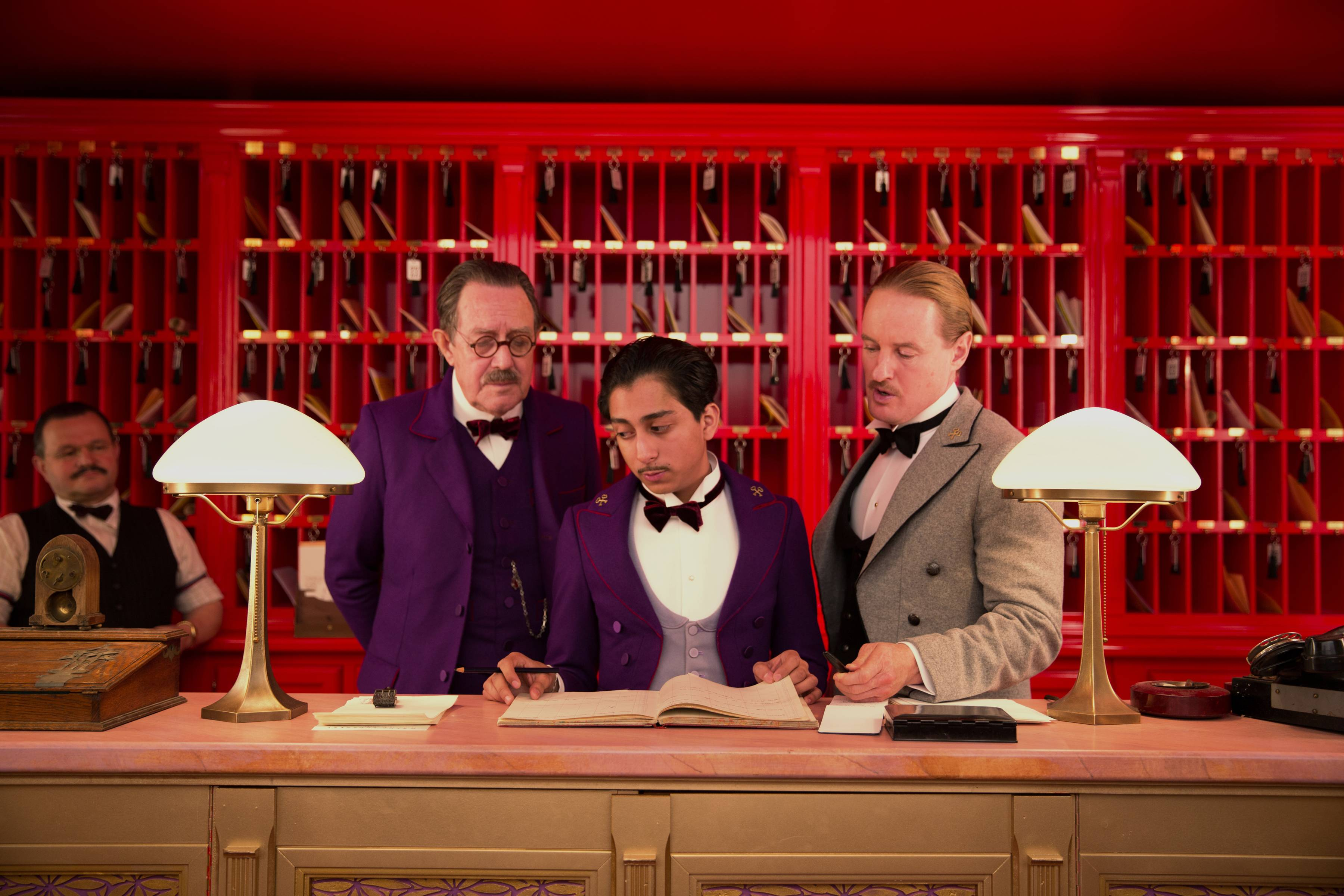 "Tom Wilkinson, Tony Revolori, center, and Owen Wilson, right, star in Wes Anderson's ""The Grand Budapest Hotel,"" photographed by Oscar nominated Robert Yeoman, who grew up in Northbrook and Wilmette."