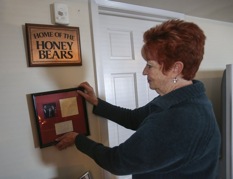 During her years directing the Luvabulls, Cathy Core picked up this autographed photo of Michael Jordan. But the Wheaton woman got her start in professional sports with the Chicago Honey Bears.