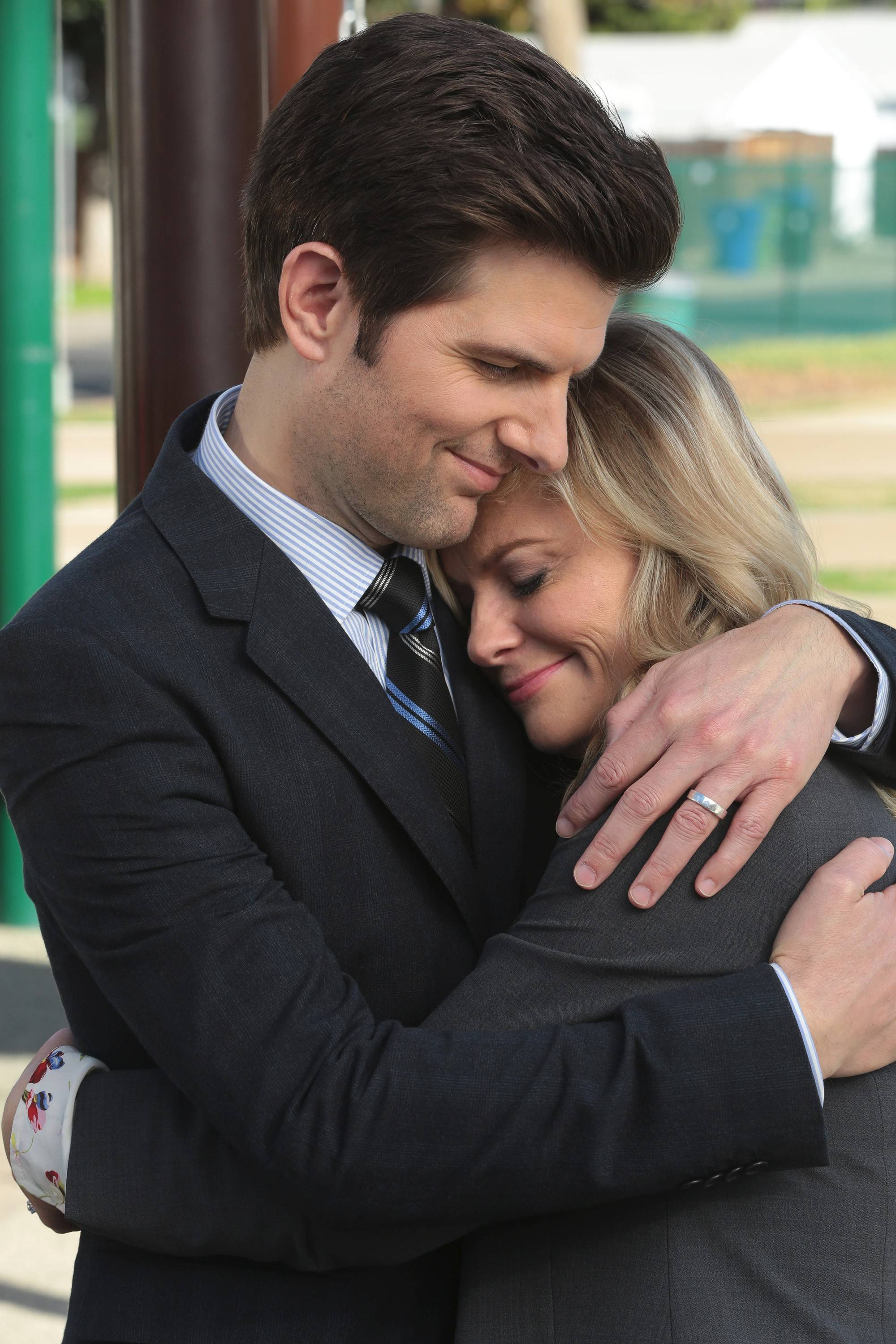 "Ben (Adam Scott), Leslie (Amy Poehler) and the gang say goodbye as NBC's ""Parks and Recreation"" ends its run on Feb. 24."