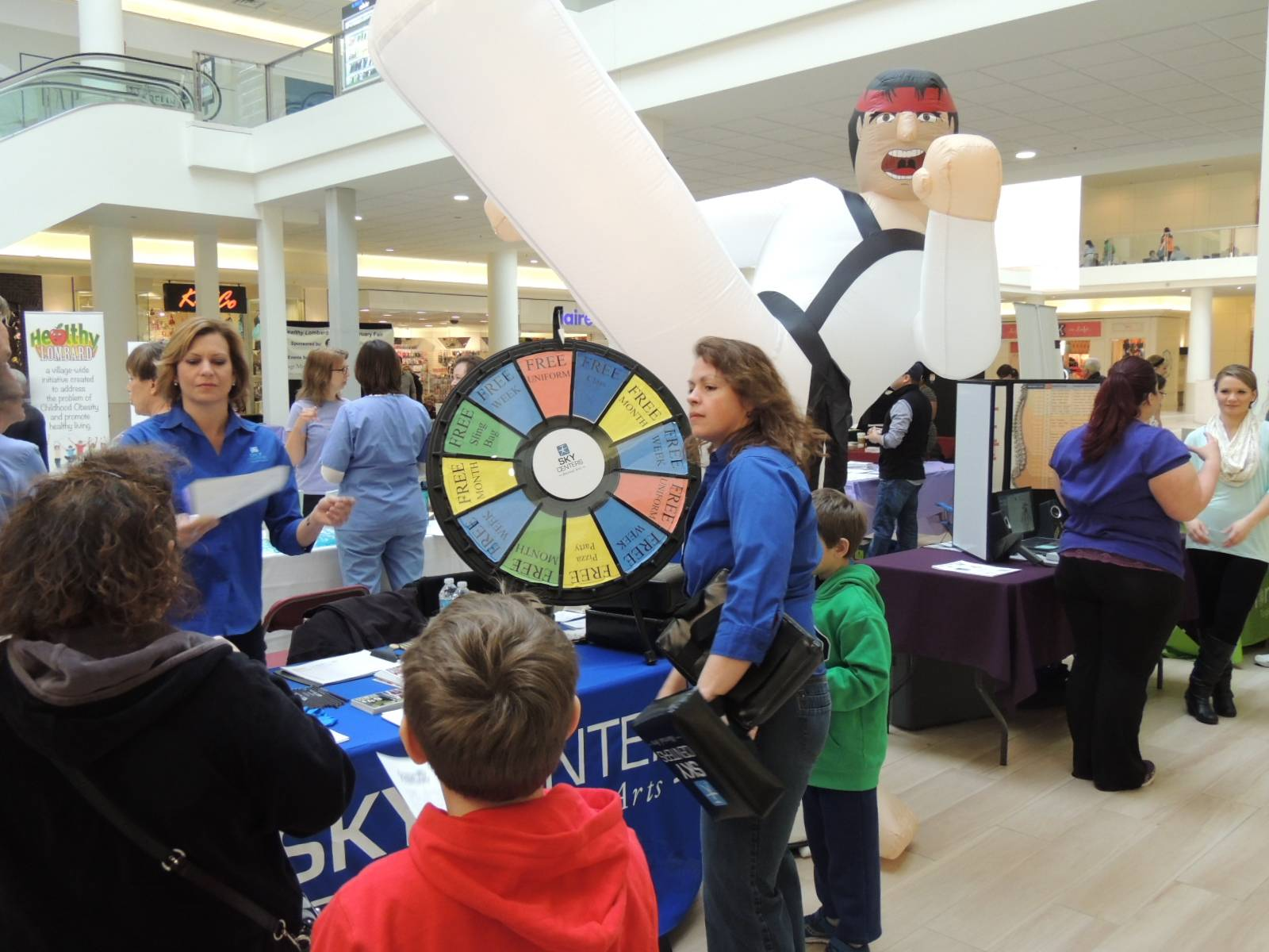 The February Fitness Fair at Yorktown mall offers visitors a variety of activities, information and contests to make them more aware of how to live healthy lives.