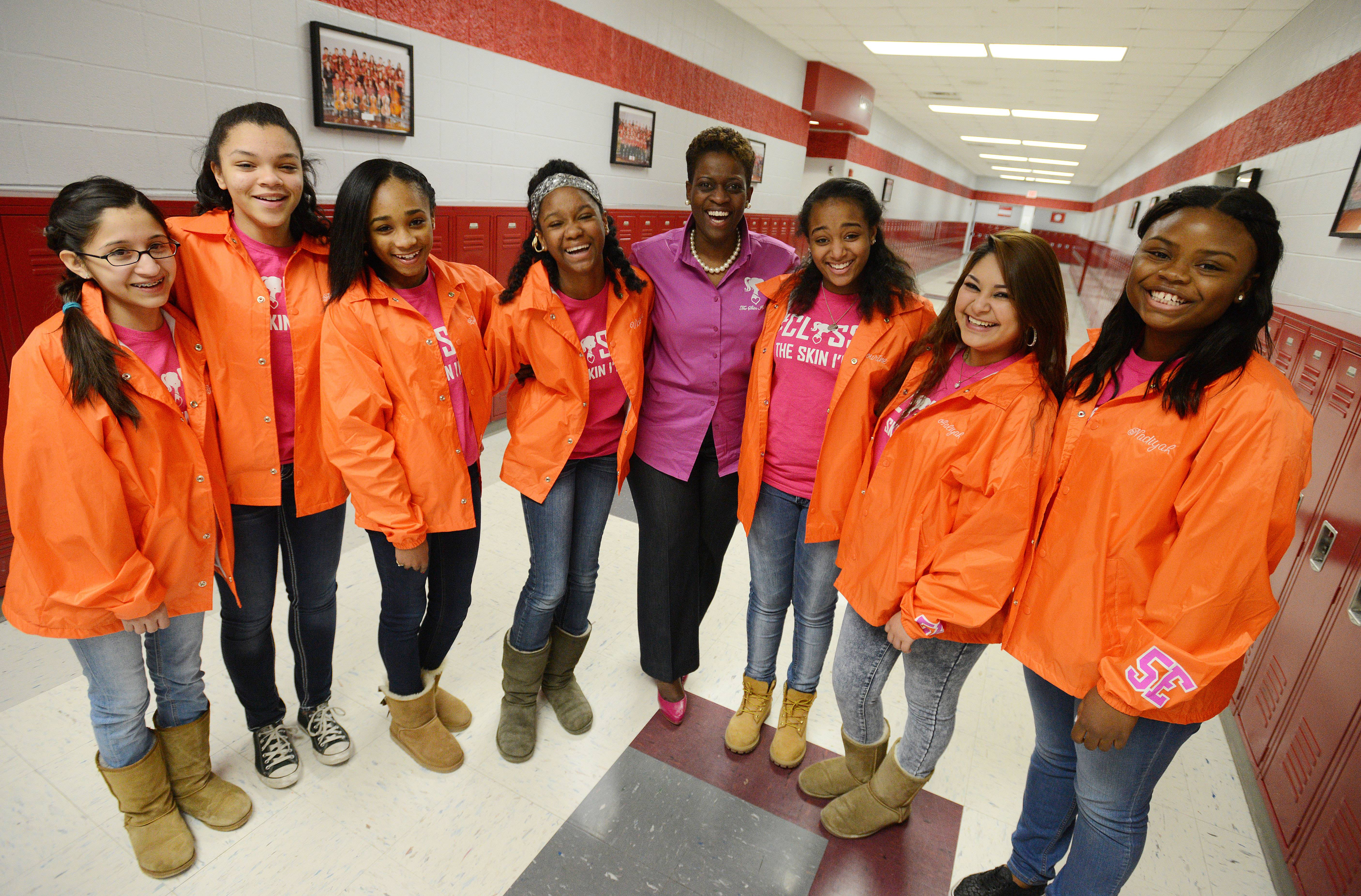 A group of black girls