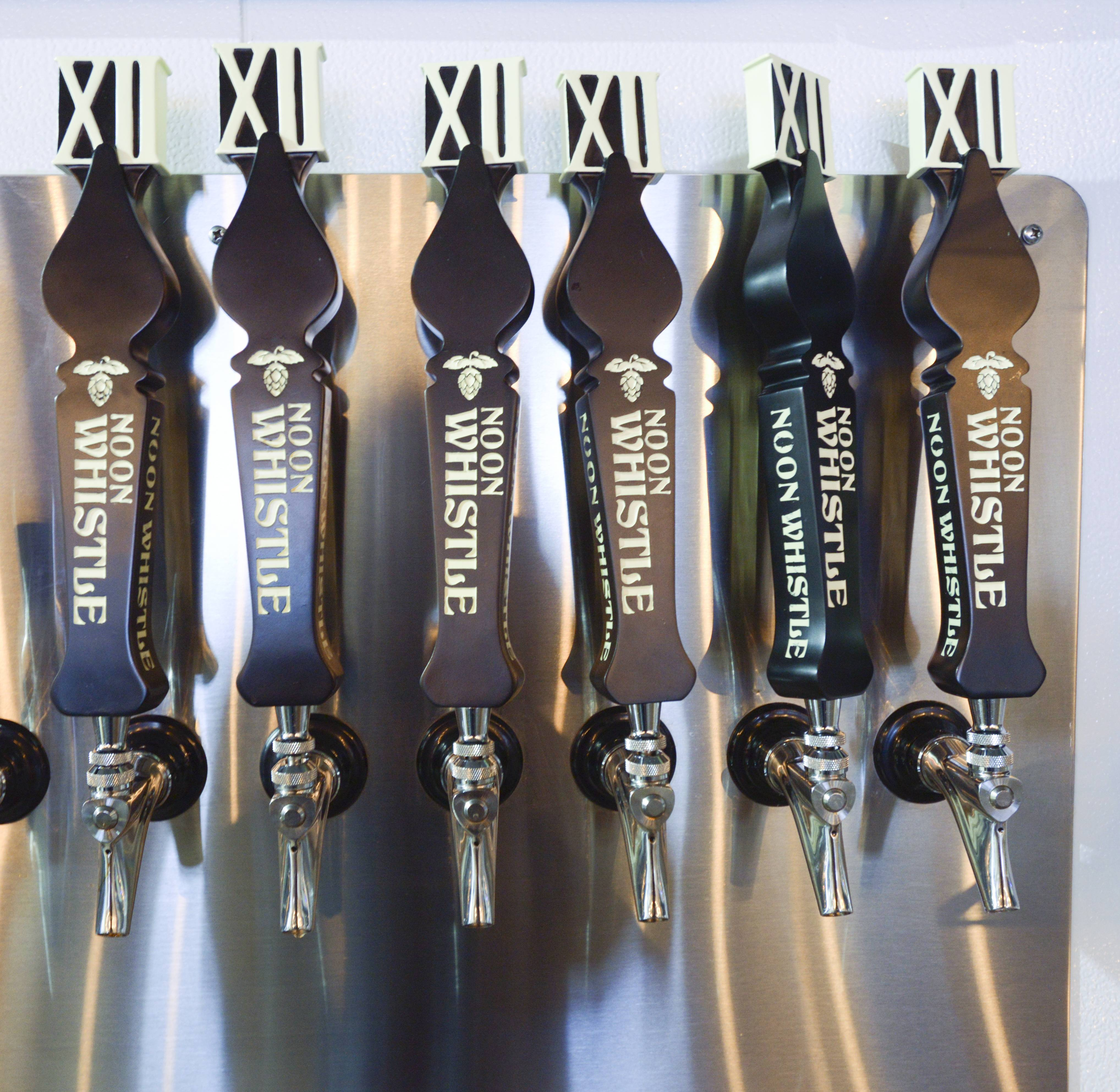 Tap selections rotate at Noon Whistle Brewing in Lombard.