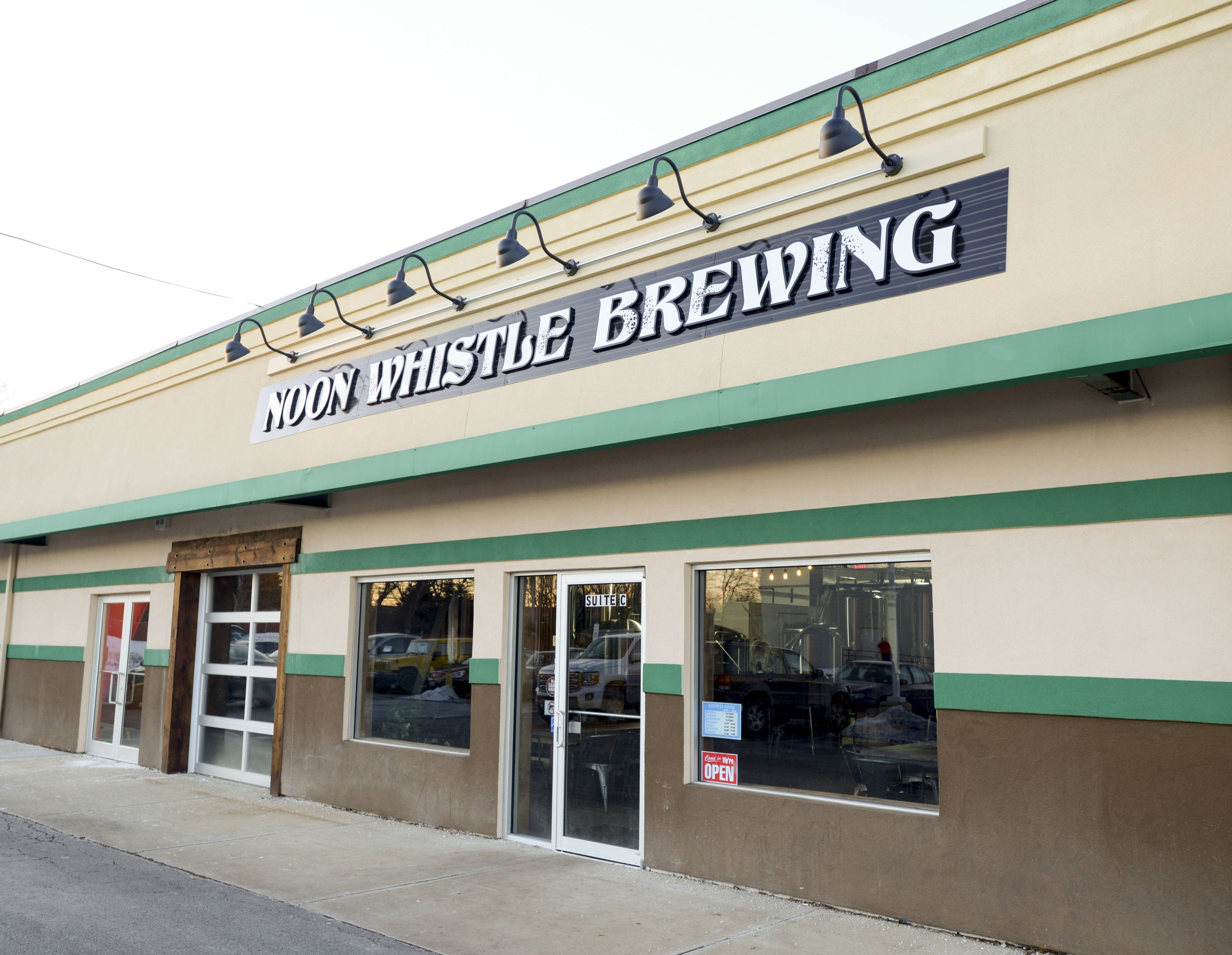 Noon Whistle Brewing in Lombard is set to the back of the small shopping center at 800 E. Roosevelt Road.