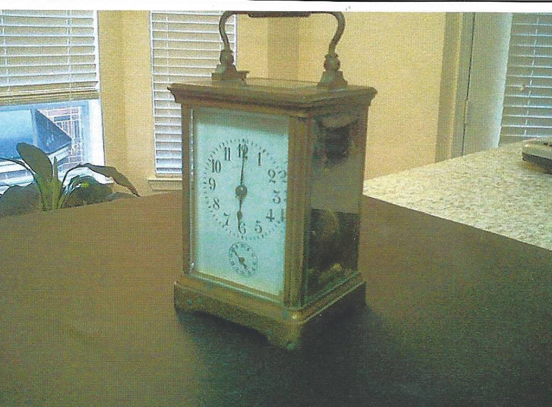 This Tiffany and Company clock was made in France or Germany.