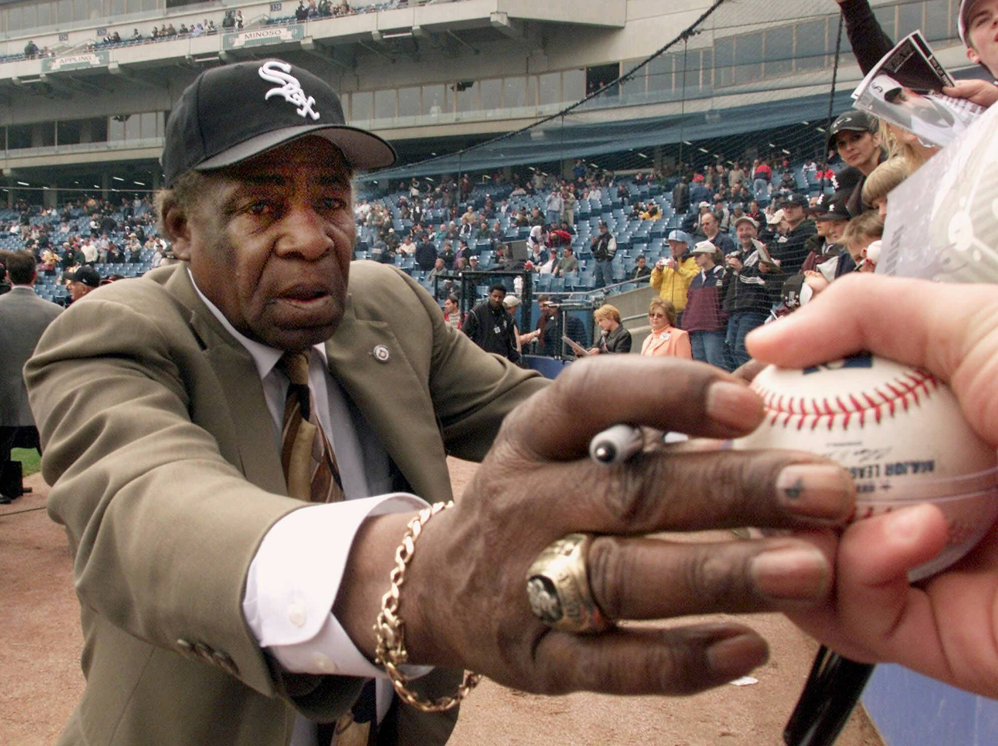 "White Sox legend Saturnino Orestes ""Minnie"" Minoso was always willing to sign autographs at the ballpark. Minoso, the first Cuban to play for the White Sox and first black to play major league baseball in Chicago, died early Sunday."