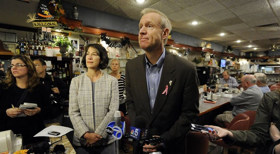 Gov. Bruce Rauner has asked local governments to sacrifice some of the money they get from the state to help Illinois' budget.